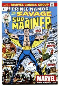 SUB-MARINER #67-comic book-MARVEL-HIGH GRADE-RARE 2ND PRINT-HTF-NM-