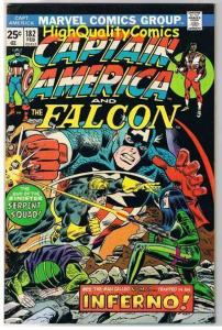 CAPTAIN AMERICA #182, FN, Inferno, Falcon, Serpent, 1968, more CA in store