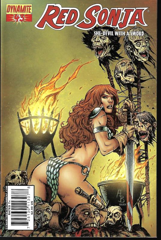 Red Sonja #43 (Dynamite Entertainment)- Adriano Batista Cover