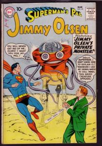 SUPERMAN'S PAL JIMMY OLSEN #42 1960-PULP COVER SWIPE-DC FN