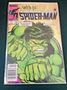 WEB of SPIDER-MAN #7, VF/NM, Hulk, ,1985, more Marvel in store