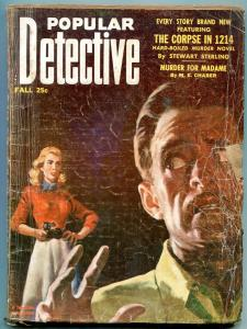 Popular Detective Pulp Fall 1953- Final issue- Rare G