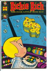 Richie Rich #89 1970-Harvey-black space travel cover-Little Lotta-FN