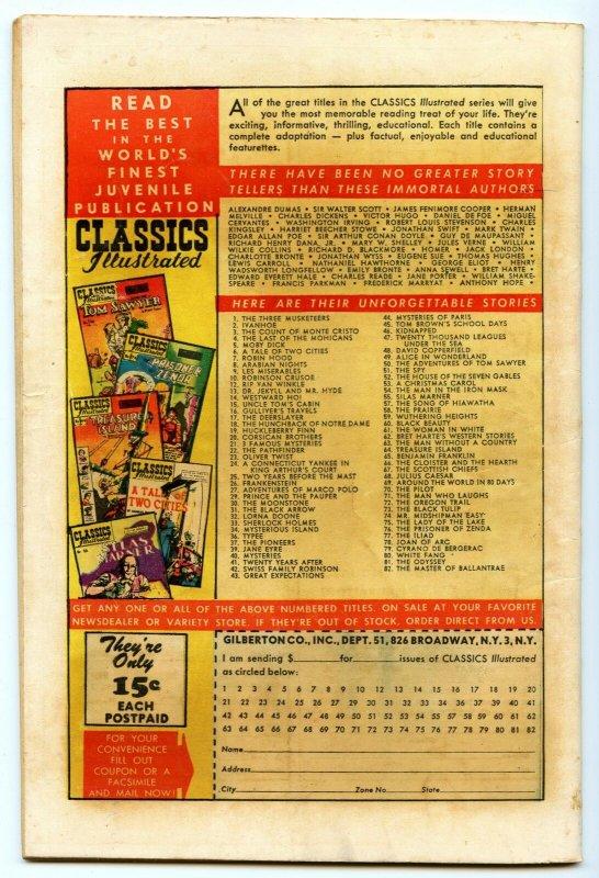 Classics Illustrated 82 (Original) Apr 1951 VG- (3.5)