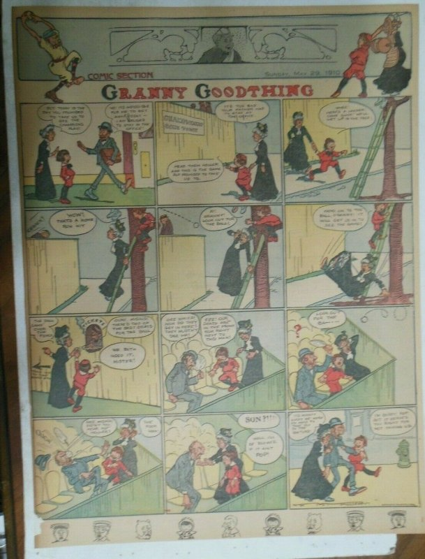 Granny Goodthing Sunday Page by Follett  from 5/29/1910 Full Page Size!