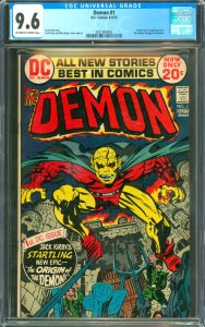 Demon #1 CGC Graded 9.6 Origin and 1st appearance of the Demon (Etrigan) and ...