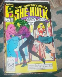The Sensational She-Hulk # 4 aug 1989, Marvel JEN WALTERS  gamma blond platnum