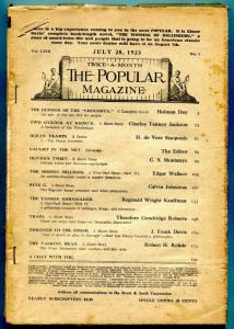 Popular Magazine Pulp July 20 1923- Missing Millions- coverless