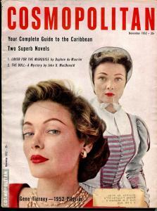 Cosmopolitan 11/1952-John D MacDonald-pulp fiction-Gene Tierny-VG/FN