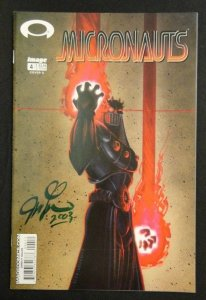 Micronauts #4 Cover A Variant Signed By Joseph Linsner