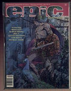 EPIC 7(8/81) VERY FINE SMITH CVR & PORTFOLIO,ADAMS(16 P COMICS BOOK