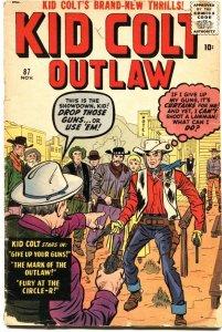 KID COLT #87-JACK KIRBY-JACK DAVIS-GUNSMOKE KID-ATLAS / MARVEL-1959