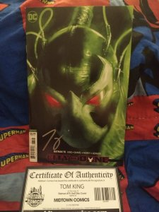 Batman #75 Cover E Variant NM Signed by Tom King with COA