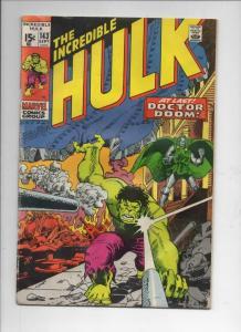 HULK #143, VG, Bruce Banner, Dr Doom, 1968 1971, Incredible,more Marvel in store