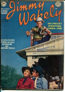 Jimmy Wakely #5 1950-DC-B-Western movie photo cover-Alex Toth art-FN-