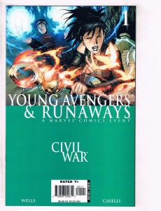Young Avengers & Runaways Civil War # 1 NM 1st Print Marvel Comic Book J111