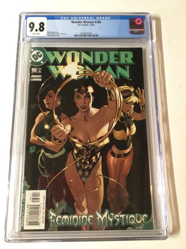 Wonder Woman 186 Cgc 9.8 White Pages Adam Hughes AH! Cover 1987 Series