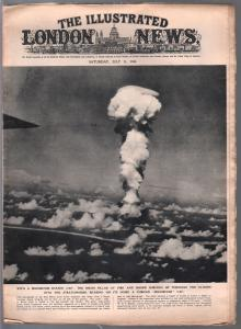 Illustrated London News 7/13/1946-atomic bomb explosion cover-2nd section-G