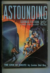 Astounding Science Fiction August 1939 1st PUBLISHED HEINLEN STORY--Life-Line