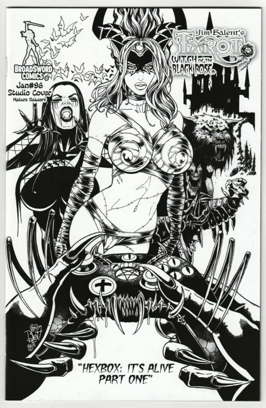 Tarot Witch Of The Black Rose #96 Studio Cvr B&W Var (Broadsword, 2016) NM