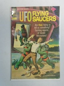 UFO Flying Saucers #4 4.0 VG Water stain (1974 Gold Key)