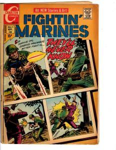 4 Fightin' Marines Charlton Comic Books # 99 103 104 109 70's War Comics J129
