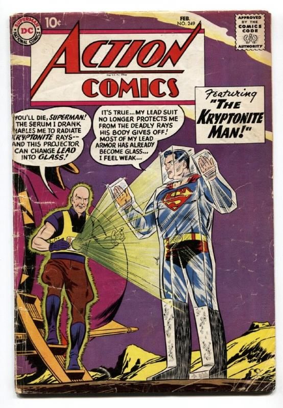 ACTION COMICS #249 DC SUPERMAN 1959 LEX LUTHOR G