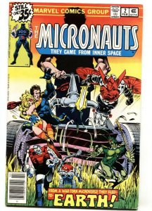 MICRONAUTS #2 comic book  Time Traveler-Marvel 1978