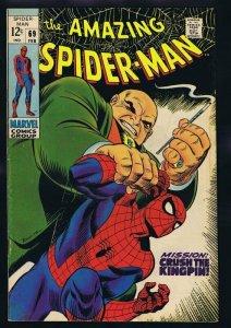 Amazing Spiderman #69 ORIGINAL Vintage 1969 Marvel Comics Kingpin