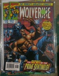 WOLVERINE # 116  1997 marvel  OPERATION ZERO TOLERANCE + PRIME SENTINELS
