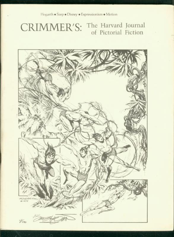Crimmer's: The Harvard Journal Of Pictorial Fiction 1975-HOGARTH-TARZAN-DISNEY