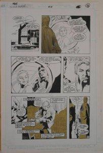 GENE COLAN / STEVE MITCHELL original art, SILVERBLADE #10 pg 15, 13x20,1987