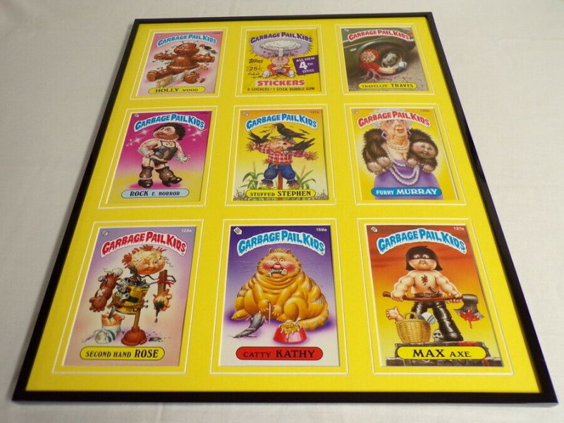 Garbage Pail Kids Series 4 Framed 16x20 Display