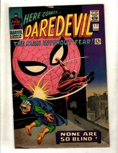 Daredevil # 17 FN- Marvel Comic Book Silver Age Stan Lee Spider-Man Foggy NE1