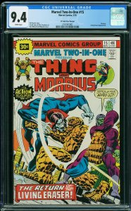 Marvel Two-In-One #15 (Marvel, 1976) KEY - 30 Cent Price Variant