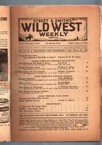 WILD WEST WEEKLY 10/29/1938-WESTERN PULP-OKLAHOMA KID FR