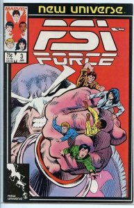 PSI FORCE #3, VF/NM, Texeira, Marvel, 1986 1987  more Marvel in store