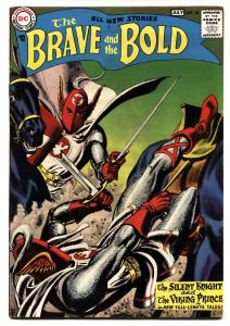 BRAVE AND THE BOLD #18-1958-DC-JOE KUBERT-RUSS HEATH-GREY TON COVER fn-