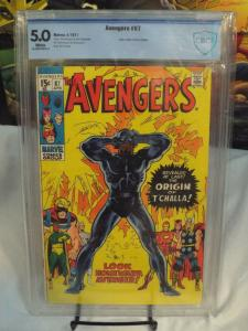 Avengers 87 - CBCS 5.0 - OW/White Pages - Black Panther Origin!!Not CGC/PGX