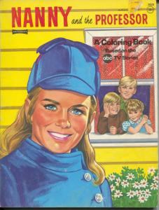 Nanny and The Professor Coloring Book #3929 1971-Juliet Mills-VG
