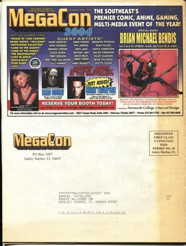 MegaCon Program Book 2004-Spider-Man Wolverine-cover-guest & artist bios