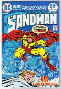SANDMAN #1, FN-, Jack Kirby, Joe Simon, Dreams, 1974, more JK in store