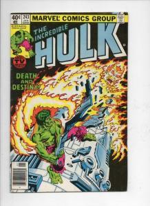 HULK #243, VG+, Incredible, Bruce Banner, Tyrannus, 1968 1980, Marvel