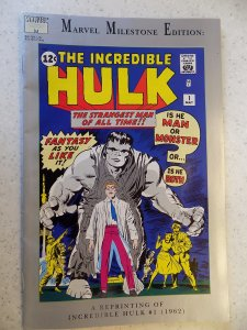MARVEL MILESTONE EDITION INCREDIBLE HULK # 1