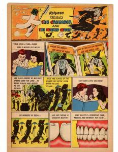 KOLYNOS: Crusader & The Wicked Witch 1 VG 1951 COMICS BOOK