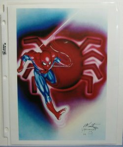 Artist MONTE MOORE Autographed Print Marvel comics SPIDER-MAN 8.5 x 11 L@@K! SEE