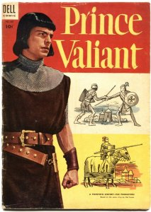 PRINCE VALIANT-DELL FOUR COLOR #567-ROBERT WAGNER MOVIE PHOTO COVER-1954