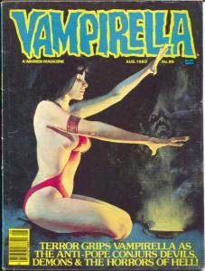 Vampirella #89 1980-Warren-Horror cover-spicy art-VG
