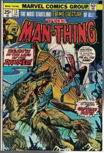 MAN THING (1974) 13 VG-F Jan. 1975 COMICS BOOK