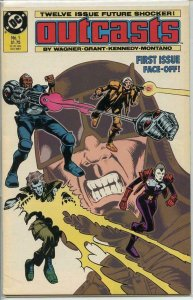OUTCASTS #1, VF/NM, Wagner, Grant, DC, 1987 more DC in store